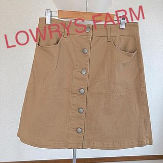 ローリーズファーム(LOWRYS FARM)の台形前ボタンスカート(ミニスカート)