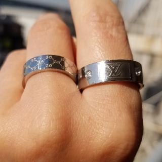 ルイヴィトン(LOUIS VUITTON)の指輪 内径約18㎜ LV風(リング(指輪))