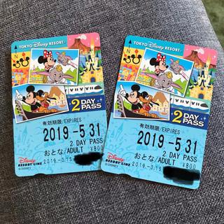 ディズニー(Disney)のディズニーリゾートライン 2DAY PASS 大人2枚(遊園地/テーマパーク)