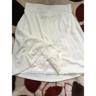 ジエンポリアム(THE EMPORIUM)の●エンポリアム 白 膝丈スカート(ひざ丈スカート)