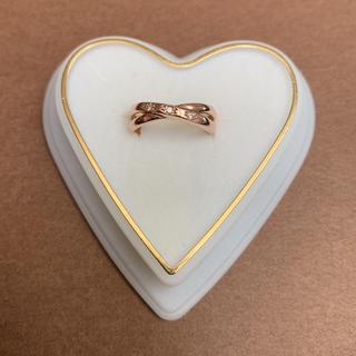 ジュエリーツツミ(JEWELRY TSUTSUMI)の証明書付き★ツツミ K10PGダイヤモンドリング 6号(リング(指輪))