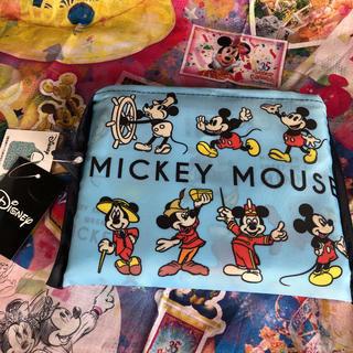 ディズニー(Disney)の新品 ディズニー 総柄 エコバックミッキー レトロ ミニー ウィリー(エコバッグ)