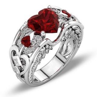 【送料無料】Wedding Engagement Heart Ring (リング(指輪))