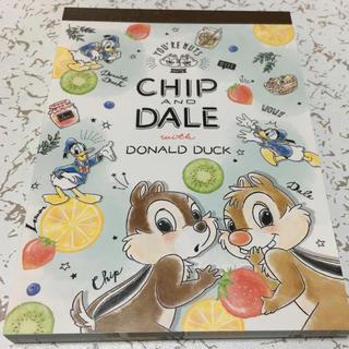ディズニー(Disney)のチップとデール メモ帳(キャラクターグッズ)