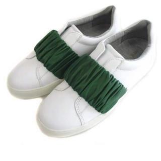 トゥモローランド(TOMORROWLAND)の新品!本革 スニーカー◎フェンディ ミュウミュウ ペリーコ トッズ フェラガモ(ローファー/革靴)