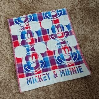 ディズニー(Disney)の【ミッキー&ミニー】フェイスタオル(タオル/バス用品)