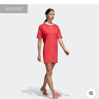 アディダス(adidas)のアディダスTシャツワンピ(ミニワンピース)