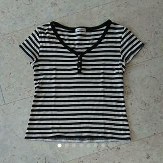 スタイルコム(Style com)のスタイルコム ボーダーTシャツ(Tシャツ(半袖/袖なし))