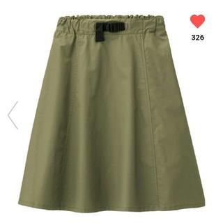 ジーユー(GU)のGU GIRLSウエストベルトスカート140(スカート)