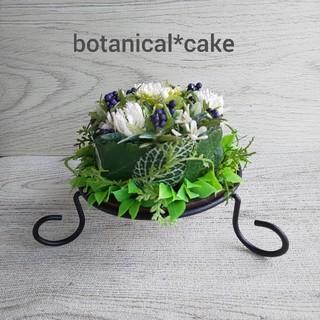 ☘️専用☘️白い小花&いろいろグリーン  ボタニカルケーキ(その他)