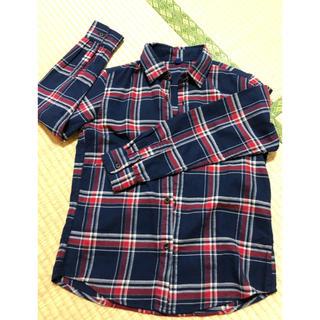 ユニクロ(UNIQLO)のシャツ 長袖 チェック 140 UNIQLO(ブラウス)