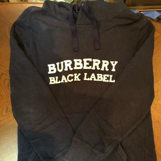 バーバリーブラックレーベル(BURBERRY BLACK LABEL)のBurberry パーカー サイズm 最終値下げ 送料込み‼︎(パーカー)
