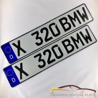 ビーエムダブリュー(BMW)の★新品★ 「X 320 BMW」 2枚セット 本物ドイツユーロナンバープレート(車外アクセサリ)