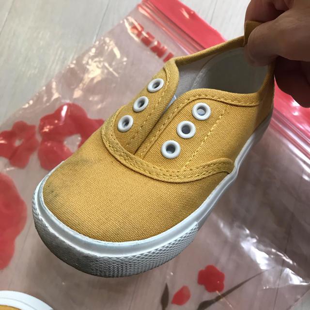 CONVERSE(コンバース)のヒラキ スリッポン 黄色 15センチ  キッズ/ベビー/マタニティのキッズ靴/シューズ (15cm~)(スリッポン)の商品写真