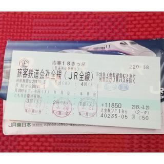 青春18きっぷ 1回分 (4月3日以降発送)(鉄道乗車券)