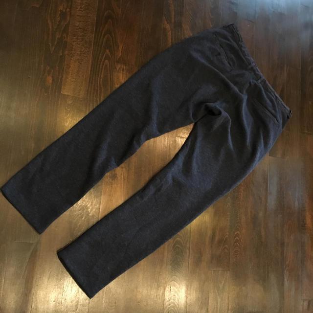 GU(ジーユー)のネイビー トラッド スタイル パンツ★デザイン シルエット ストリート ジョガー メンズのパンツ(スラックス)の商品写真