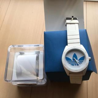 アディダス(adidas)のアディダス 腕時計 白×青(腕時計(デジタル))