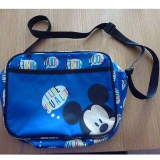 ディズニー(Disney)のミッキー 通園バッグ 中古 名前記載あり(通園バッグ)