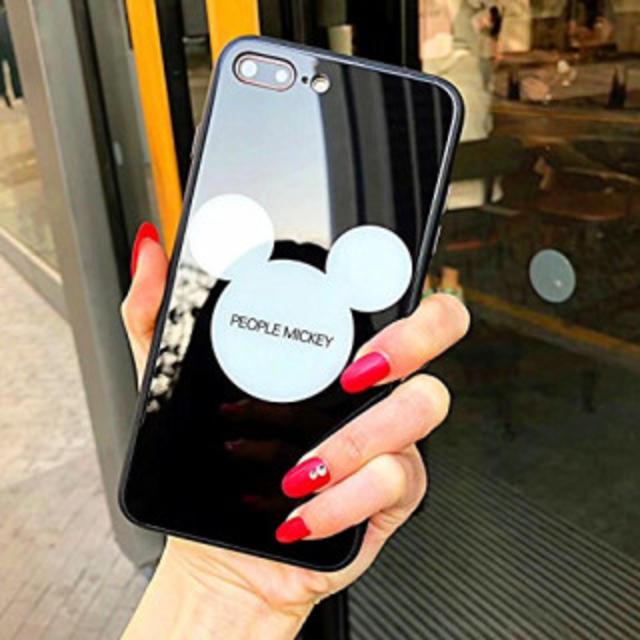 297b8abef8 新品♪ iPhone 7/8 強化ガラスカバー ディズニー ミッキーマウス スマホ/家電/