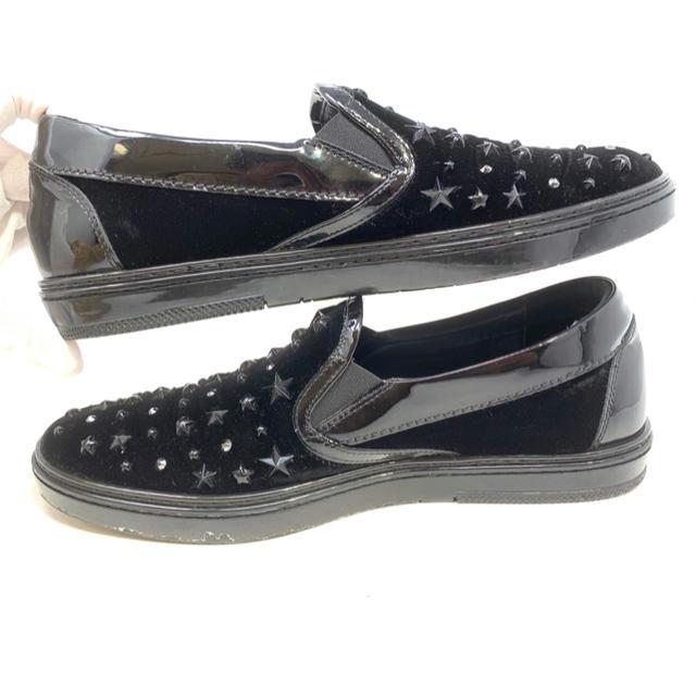 JIMMY CHOO(ジミーチュウ)のJIMMY CHOO☆ スリッポン スタッズ ベロア メンズの靴/シューズ(スリッポン/モカシン)の商品写真