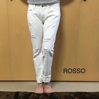 アーバンリサーチロッソ(URBAN RESEARCH ROSSO)のお値下げ中!アーバンリサーチ ROSSO ダメージ ホワイトデニム(デニム/ジーンズ)