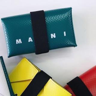 マルニ(Marni)の翌日発送 値下 マルニ MARNI ミニサイフ 箱、ショッパー付き(折り財布)