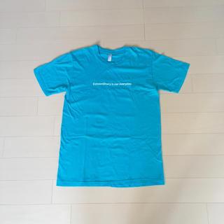 アップル(Apple)の【非売品】Apple  Tシャツ  水色  アメリカンアパレル  アップル(Tシャツ/カットソー(半袖/袖なし))