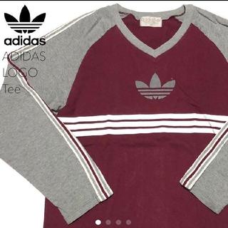 アディダス(adidas)の#3098 adidas アディダス デサント製 長袖 Tシャツ(Tシャツ/カットソー(七分/長袖))