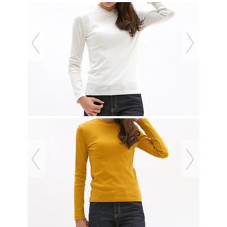 ジーユー(GU)のハイネックリブT Lサイズ 2枚セット GU(Tシャツ(長袖/七分))