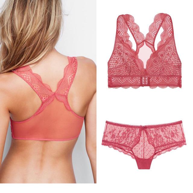 Victoria's Secret(ヴィクトリアズシークレット)の新品❤️ヴィクトリアシークレット レースブラレット ヒップスターソング  レディースの下着/アンダーウェア(ブラ&ショーツセット)の商品写真