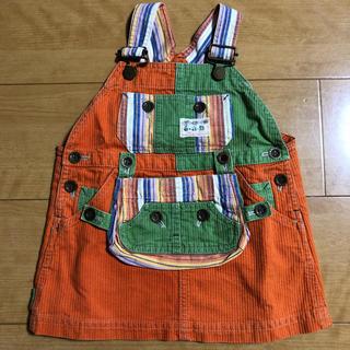 エーアーベー(eaB)のエーアーベー  コーデュロイ風 ジャンパースカート 90 (ワンピース)