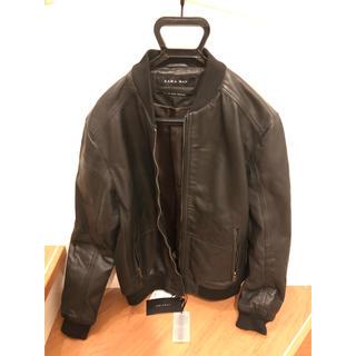 ザラ(ZARA)の新品 ザラ 革 ジャケット Lサイズ(レザージャケット)