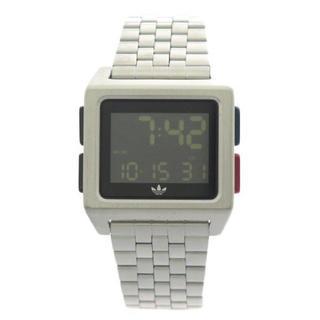 アディダス(adidas)の新品 アディダス 腕時計 男女兼用 アーカイブ シルバー デジタル CJ6307(腕時計(デジタル))