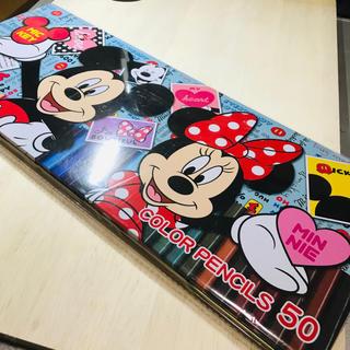 ディズニー(Disney)のディズニー ミッキー&ミニー 50色色鉛筆セット 新品未開封(色鉛筆 )
