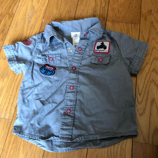ディズニー(Disney)のミッキーマウス★アプリッケが可愛い半袖シャツ Tシャツ(シャツ/カットソー)