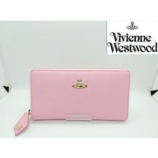 ヴィヴィアンウエストウッド(Vivienne Westwood)の【新品・本物】VivienneWestwood 長財布 サフィアーノ ピンク  (財布)