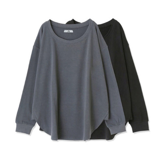 メゾンドリーファー(Maison de Reefur)のメゾンドリーファー クルーネックTシャツ Gray Khaki(Tシャツ(長袖/七分))