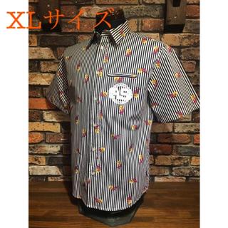 アンドサンズ(ANDSUNS)のANDSUNS アンドサンズ NASSAU WOVEN ストライプ シャツ XL(シャツ)