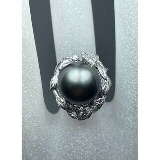 ☆上品で大粒《黒蝶真珠リング》約12.4mm 12.7g 14.5号☆(リング(指輪))