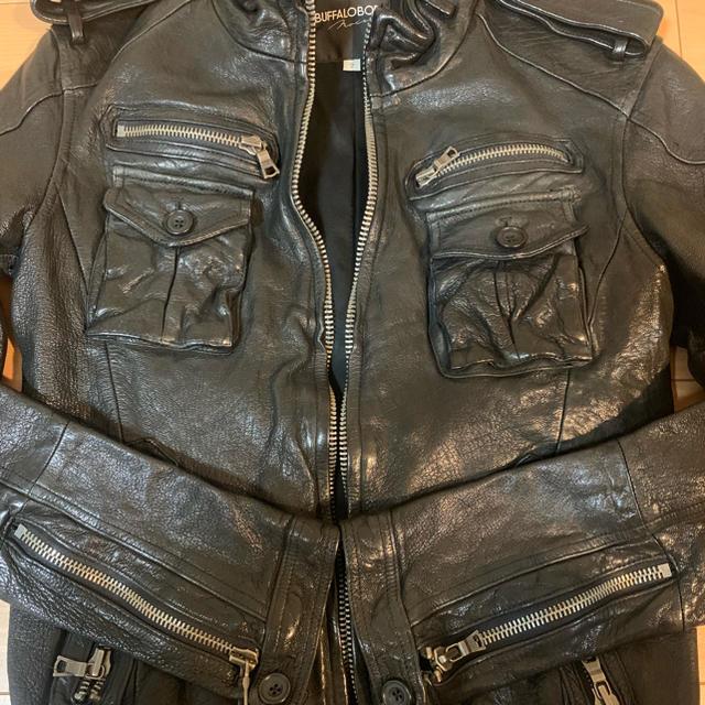 BUFFALO BOBS(バッファローボブス)のバッファローボブス 匠レザー ライダース ヤギ革 メンズ 美品  メンズのジャケット/アウター(レザージャケット)の商品写真