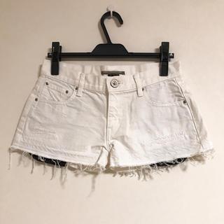 ダブルスタンダードクロージング(DOUBLE STANDARD CLOTHING)のダブスタ ホワイトデニムショートパンツ(ショートパンツ)