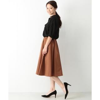 デミルクスビームス(Demi-Luxe BEAMS)の✨美品✨Demi-Luxe BEAMS サイドタック ウエストゴムスカート  (ひざ丈スカート)