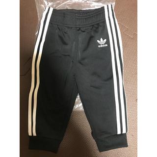アディダス(adidas)の新品 アディダス ジャージ トラックパンツ 80 キッズ ブラック 最新 パンツ(パンツ)