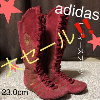 アディダス(adidas)の値下げ⭐︎ブーツ【レッド‼️】アディダス レディース adidas(ブーツ)