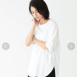 デミルクスビームス(Demi-Luxe BEAMS)の新品 ATON / スビン ラウンドヘム Tシャツ(Tシャツ(半袖/袖なし))