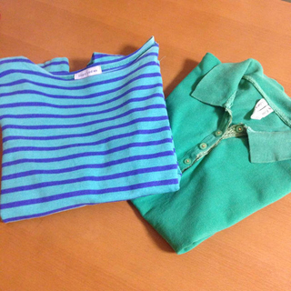 ビームス(BEAMS)のビームスボーダーシャツ、ポロ(カットソー(長袖/七分))