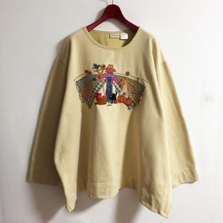 90s スウェットシャツ 古着女子 かわいい カジュアルコーデ(トレーナー/スウェット)