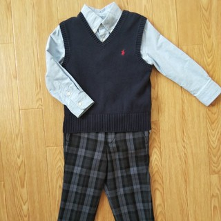 ポロラルフローレン(POLO RALPH LAUREN)のフォーマル3点セット 100サイズ(2T) ラルフローレン コムサイズム 入学式(ドレス/フォーマル)