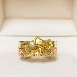 シドラ SIDRA エレファント リング K18 YG/PG 指輪 (リング(指輪))