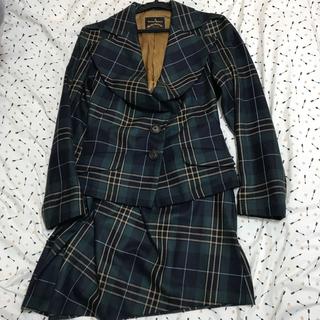 ヴィヴィアンウエストウッド(Vivienne Westwood)のヴィヴィアンウエストウッド 緑 セットアップ チェック(スーツ)